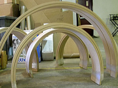 Arched Amp Curved Millwork Services Wood Components